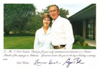 President and First Lady Bush